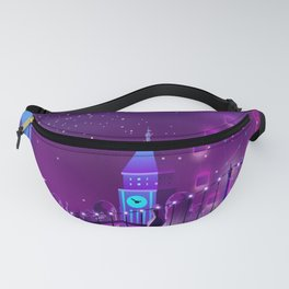 Synthwave Neon City #3 Fanny Pack