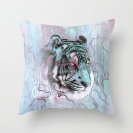 Illusive By Nature (Blue) Throw Pillow