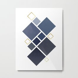 Composition of squares and gold Metal Print