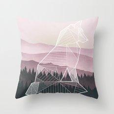 Geometric Nature - Fox (Full) Throw Pillow