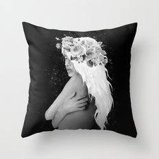 The Girl With The White Hair Throw Pillow
