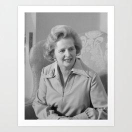 Margaret Thatcher Art Print
