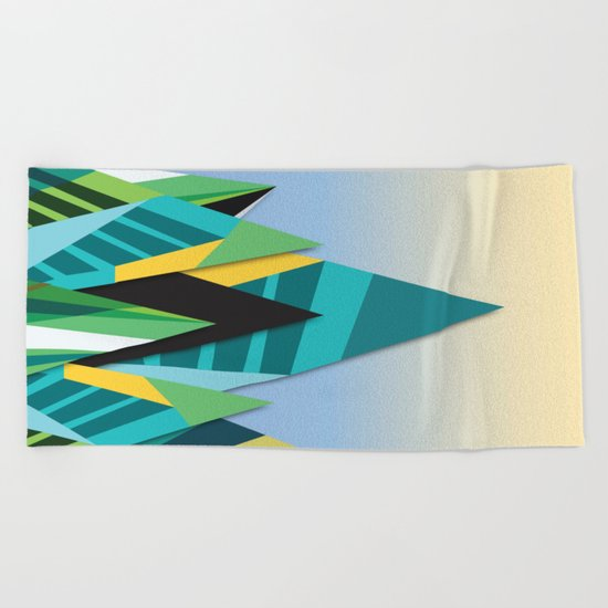 Cosmic Mountains No. 2 Beach Towel