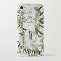 typo iPhone & iPod Cases featuring typo by Ferdane Aydın