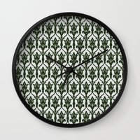 221b Wall Clocks featuring 221b Wallpaper by rogueleader