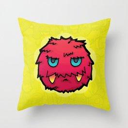 Doodle Red Ball Throw Pillow