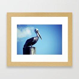 Beach Bum Chick Framed Art Print