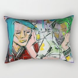 Hashtag A Night Out with Friends Rectangular Pillow