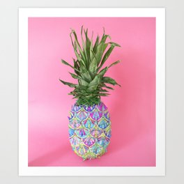 Tropical Painted Pineapple Art Print