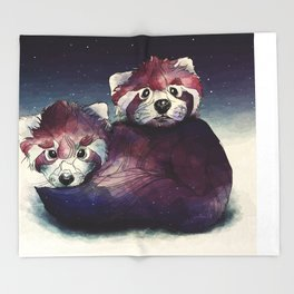 red pandas Throw Blanket