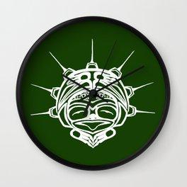 Spirit Frog Grass Wall Clock