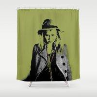 grumpy Shower Curtains featuring Grumpy  by OhShizz