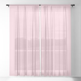Light Soft Pastel Pink Solid Color Sheer Curtain