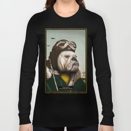 "Wing Commander, Benton ""Bulldog"" Bailey of the RAF Long Sleeve T-shirt"
