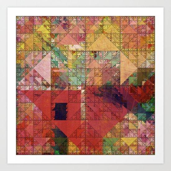 Aztec Vintage Pattern 09 Art Print