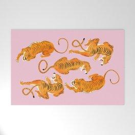 Three fierce tigers Welcome Mat