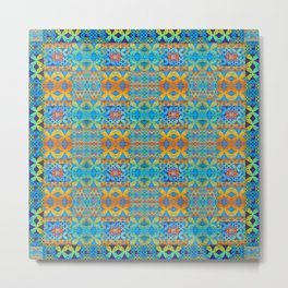 Glowing African Inspired Geometric Print Metal Print