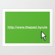 Hyperlink to the Past Art Print