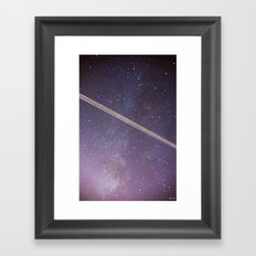 Boeing through the Milky Way Framed Art Print
