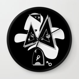 PRiOR BLACK SiDE ver. (Original Characters Art by AKIRA) Wall Clock