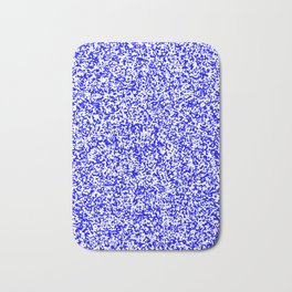 Tiny Spots - White and Blue Bath Mat