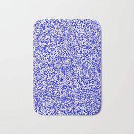 Tiny Spots - White and Blue Bath Mat