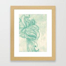 Ocean Plant Framed Art Print