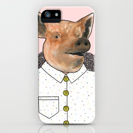 Charlie the Pig iPhone Case