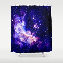 indigo galaxy : Celestial Fireworks Shower Curtain