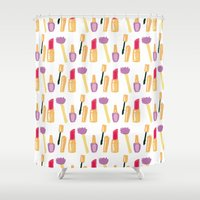 make up Shower Curtains featuring Make up by Angela Capacchione