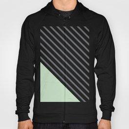 Diagonal Block - Mint Hoody