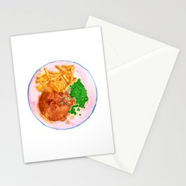 Watercolor Chicken Pot Pie Dinner #2 by Artume Stationery Cards