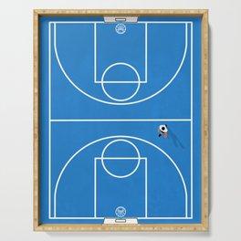 Shoot Hoops | Aerial Basketball Serving Tray