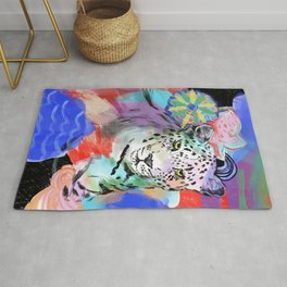 Electric Leopard Rug