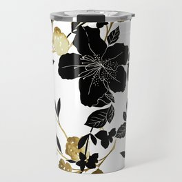 Black Azelea Travel Mug