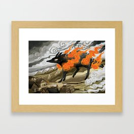 Disaster Strikes Framed Art Print