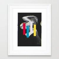 glitch Framed Art Prints featuring Glitch by Mrs Araneae