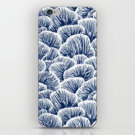 Mushroom Pattern - Dark Blue iPhone Skin