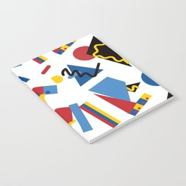 Postmodern Primary Color Party Decorations Notebook
