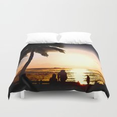 Remembering Waikiki Duvet Cover