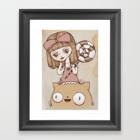 Sweeter than candy Framed Art Print