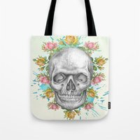 pie Tote Bags featuring Sweetie pie by Ginger Pigg Art & Design