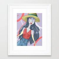 marceline Framed Art Prints featuring marceline!! by clairen0vak