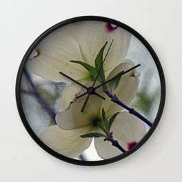 Dogwood Blossoms Wall Clock