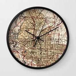Vintage Map of Raleigh North Carolina (1940) Wall Clock