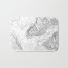 NORTH BEND WA TOPO MAP - LIGHT Bath Mat