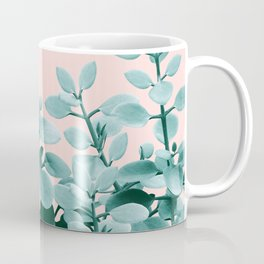 Eucalyptus Leaves Green Blush Vibes #1 #foliage #decor #art #society6 Coffee Mug