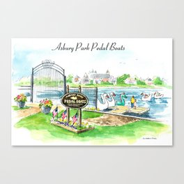 Swan Boats Canvas Print