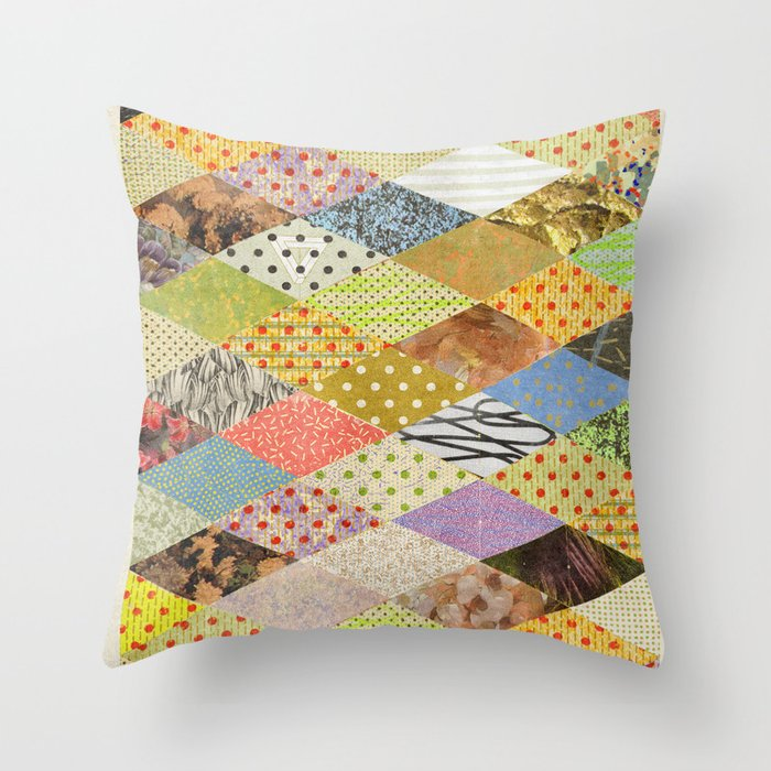 RHOMB SOUP / PATTERN SERIES 002 Throw Pillow