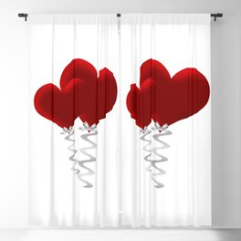 Valentine love hearts Blackout Curtain